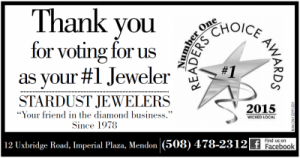 Stardust Jewlers in Mendon Voted #1